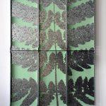 """""""botanisiern shida 15"""" - 2002 / oil based paint on metal / 200 x 150 cm"""