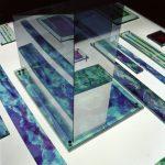 """gene 10"" - 1995 / ohp film print, acrylic sheets, acrylic half mirror, on light box (Detail)"