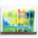"""gene 16"" - 1995 / ohp film print, acrylic sheets, transparent resin on Panel / 29 x 40 cm"