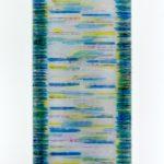 """gene 2"" - 1995 / ohp film print, transparent resin on Panel / 120 x 60 cm"