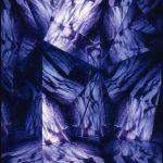 """gene 20"" - 1995 / ohp film print, acrylic half mirror, on light box / 120 x 80 x 35 cm"