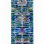 """gene 3"" - 1995 / ohp film print, transparent resin on Panel / 120 x 60 cm"