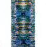"""gene 4"" - 1995 / ohp film print, transparent resin on Panel / 120 x 60 cm"