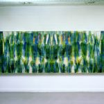 """gene 5"" - 1995 / ohp film print, acrylic sheets, transparent resin on Panel / 112 x 320 cm"