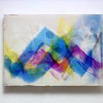 """gene 6"" - 1995 / ohp film print, acrylic sheets, transparent resin on Panel / 29 x 40 cm"