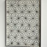 """""""jiba asanoha"""" - 2006 / magnet, iron, on canvas / framed 81 x 61x 4,5 cm"""