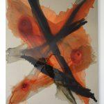 """jiba cis 2"" - 2014 / magnet, pigment, transparent harz, acrylic on canvas / 215 x 170 cm"