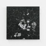 """jiba pk 11"" - 2011 / magnet, pigment, acrylic on canvas / 26.5 x 26.5 cm"