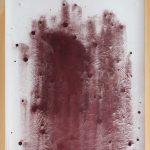 """""""jiba pp 1"""" - 2012 / magnet, acrylic, pigment in frame / framed 86.3 x 74.3cm"""