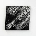 """jiba pt 17"" - 2012 / magnet, pigment, oil on canvas / 60 x 60 cm"