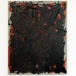 """jiba pt 30"" - 2012 / magnet, acrylic, pigment, lack, oil on canvas / 100 x 80 cm"