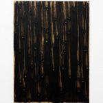 """jiba pt 25"" - 2012 / magnet, pigment, acrylic on canvas / 40 x 40 cm"