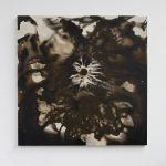 """jiba te 11"" - 2012 / magnet, pigment, acrylic on canvas / 60 x 60 cm"