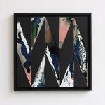 """jiba te nagare 3"" - 2011 / magnet, pigment, acrylic on canvas / 26.5 x 26.5 cm"